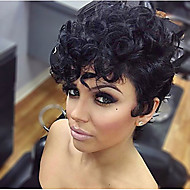 Popular Short Wig Black Curly Synthetic Wigs For Afro Women