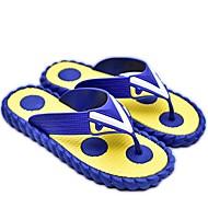 Pantofle a Žabky-Guma-S páskem-Pánské-Žlutá Hnědá Modrá-Běžné-Plochá podrážka