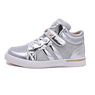 Fille-Décontracté-Argent Jaune Rose-Talon Bas-Confort-Chaussures d'Athlétisme-Polyuréthane
