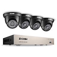 ZOSI® 8CH HD-TVI 1080P Lite Video Security System DVR Recorder with 4x HD 1280TVL Weatherproof CCTV Camera