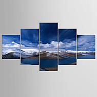 Giclee Print Maisema Moderni Classic,5 paneeli Kanvas Mikä tahansa muoto Tulosta Art Wall Decor For Kodinsisustus