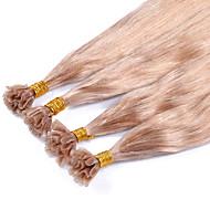 u ponta extensões de cabelo humano malaio cabelo liso humano extensões de cabelo 100g Pré-Bonded reta Número 27 virgens dicas cabelo unhas