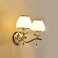 E14 moderni / nykyaikainen sähkösinkitty ominaisuus crystalambient valon tuulettimet seinävalaisin