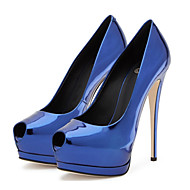 힐-웨딩 드레스 파티/이브닝-여성-컴포트 노블티-PU-스틸레토 굽-골드 블랙 실버 블루