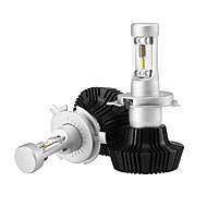 h4 25w / 2pcs 5000lmコブled電球hidホワイト360ハイ/ロービームオートバイヘッドライト6500k