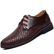 Herren-Loafers & Slip-Ons-Lässig-Leder-Flacher Absatz-formale Schuhe-Weiß Schwarz Braun