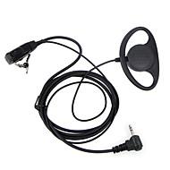 D Type Headset PTT 1 Pin FBI Earhook Earpiece for Motorola Portable HAM Radio headset TLKR T3 T4 T60 T80 MR350R Walkie Talkie