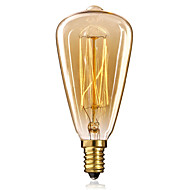 e14 st48 25w luz amarela bulbo edison tampa de rosca pequena lustre retro lâmpadas decorativas
