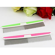 Cat Dog Grooming Comb Portable Green Blushing Pink