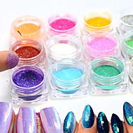12bottle/set Nail Art Dekorace drahokamu Pearls make-up Kosmetické Nail Art design