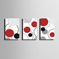 Estirada lona del arte abstracto círculos de colores Juego de 3