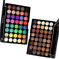 1PCS 40 Color Palette (2 Color Set to Choose) Palette Fard à paupières Sec Mat Lueur Palette Fard à paupières Poudre OrdinaireMaquillage