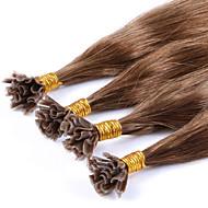 extensões de cabelo u / ponta de prego brasileira linear cabelo 100% extensões de cabelo humano 100g pré-ligado em linha reta cabelo