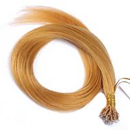 цвет # 144 нового приход нано кончик наращивания волос 10a перуанского Remy человеческих волос кератин расширений слитого волоса нано