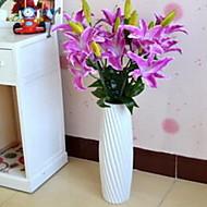 1 Branch Fiber Lilies Tabletop Flower Artificial Flowers