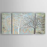 Ručno oslikana Mrtva priroda Horizontalno,Moderna Tri plohe Platno Hang oslikana uljanim bojama For Početna Dekoracija