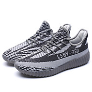 Men's Fashion Sneakers Casual Yeezy Shoes Comfort Tulle Athletic Shoes Flat Heel Lace-up Running    Shoes EU39-43