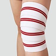 Joelheira Bandagem Elástica para Fitness Corrida Unissex Ajustável Elástico Protecção Esporte Poliéster Borracha 1 par