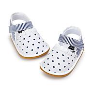 Sandály-Látka-První botičky-Dětské-Bílá Černá a zlatá červená/bílá Bílá/modrá Duhová-Šaty Běžné-Plochá podrážka