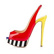 נשים-עקבים-PU-נוחות חדשני נעלי מועדון-צבע מסך-חתונה שטח משרד ועבודה שמלה יומיומי מסיבה וערב-עקב סטילטו