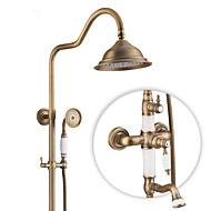 עתיק גס מודרני מקלחת בלבד ניתן לסיבוב with  שסתום קרמי שני חורי ידית אחת for  נחושת עתיקה , ברז למקלחת