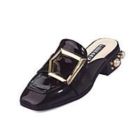 Dame-Mikrofiber-Tykk hæl Blokker hælen-Komfort-Sandaler-Formell-