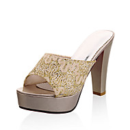 Women's Slippers & Flip-Flops Spring Summer Fall Slingback Synthetic Office & Career Party & Evening Dress Chunky Heel Sequin