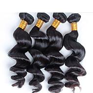 4 szt / Darmowa wysyłka na nieprzetworzone wiele królowa dziewiczy brazylijski ludzki włos, brazylijski luźna fala dziewiczy włosy