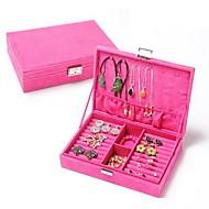 קופסאות תכשיטים טקסטיל עםמאפיין הוא עם מכסה , ל תכשיטים