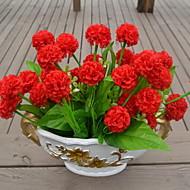1 ramură Plastic Hydrangeas Față de masă flori Flori artificiale