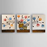 Peint à la main Nature morte Horizontale,Moderne Trois Panneaux Toile Peinture à l'huile Hang-peint For Décoration d'intérieur