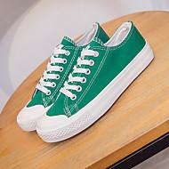 Sneakers-Kanvas-Komfort-Damer-Hvid Gul Grøn-Fritid