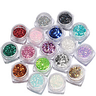 17box Nail Art Decoration tekojalokivi Pearls meikki Kosmeettiset Nail Art Design