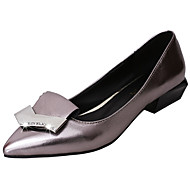 """נשים נעליים ללא שרוכים נוחות גלדיאטור PU אביב קיץ קזו'אל שמלה נוחות גלדיאטור משובץ עקב נמוך שחור אפור אדום ס""""מ 2.54 - ס""""מ 4.45"""