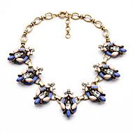 Per donna Fili Collane Cristallo Di tendenza Personalizzato Euramerican Stile semplice Blu scuro Gioielli Per Matrimonio Feste 1 pezzo