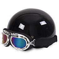 Motocyklové helmy otevřou tvář polovinu motocyklu&Brýle helma unisex new summer vintage