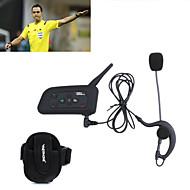 1stk fodbolddommer intercom headset vnetphone V4C 1200m fuld duplex bluetooth samtaleanlæg med fm til 4 brugere referee samtaleanlæg
