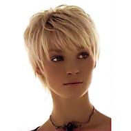 élégante perruque cheveux femme à la mode de cheveux humains courte ligne droite confortable