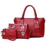 Frauen andere Leder-Typ Beiläufige Beutel-Sets braun rubinrot