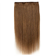 Handgemaakte 24inch 1 stuk 5 clip in 100% remy human hair extension 120g