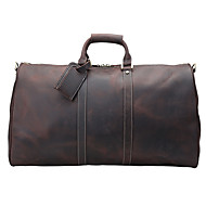 Leather travel bag business trip Europe and America fashion large capacity leisure leather travel bag