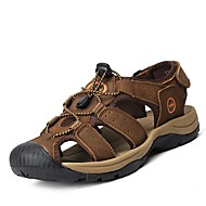 Sandales pour homme printemps été automne confort cuir de vache bureau en plein air& Robe de carrière casual light brown water shoes