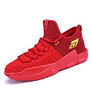 男性の運動靴春夏の快適チュール屋外アスレチックカジュアルレースアップバスケットボール