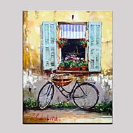 Ručně malované Zátiší Horizontálně,Středomoří evropský styl Jeden panel Plátno Hang-malované olejomalba For Home dekorace