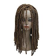 Vrouw Synthetische pruiken Zonder kap Lang Krullend Pik zwart Kastanjebruin Kastanjebruin Bleach Blonde Gevlochten pruik Afrikaanse