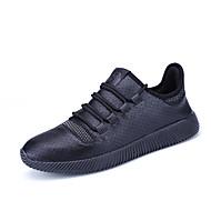 Sneakers-Kunstlæder-Komfort-Herrer-Hvid Sort-Udendørs Fritid Sport-Flad hæl