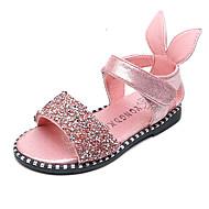 Fille-Habillé Décontracté Soirée & Evénement--Talon Plat-Confort Flower Girl Chaussures-Sandales-Similicuir
