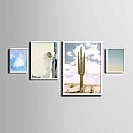Paysage A fleurs/Botanique Mots & Citations Toile Encadrée Set de Cadres Art mural,PVC Matériel Blanc Sans Passepartout Avec Cadre For
