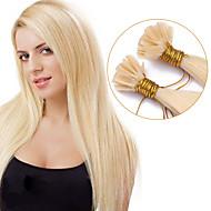 forró értékesítési fúziós előre ragasztott u tip keratin póthaj 1g / szál köröm hajhosszabbítás 100s / sok színes # 613 u tip emberi haj