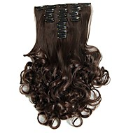 Synthetic Hair False Hair Extensions 20inch 150g Curly Hairpiece Heat Resistant Hair D1022  4#